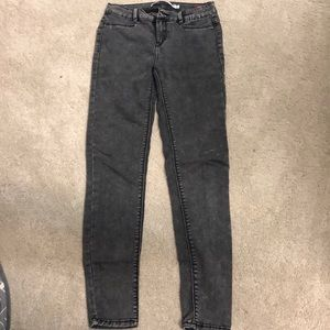 Zara black/grey acid wash jeggings